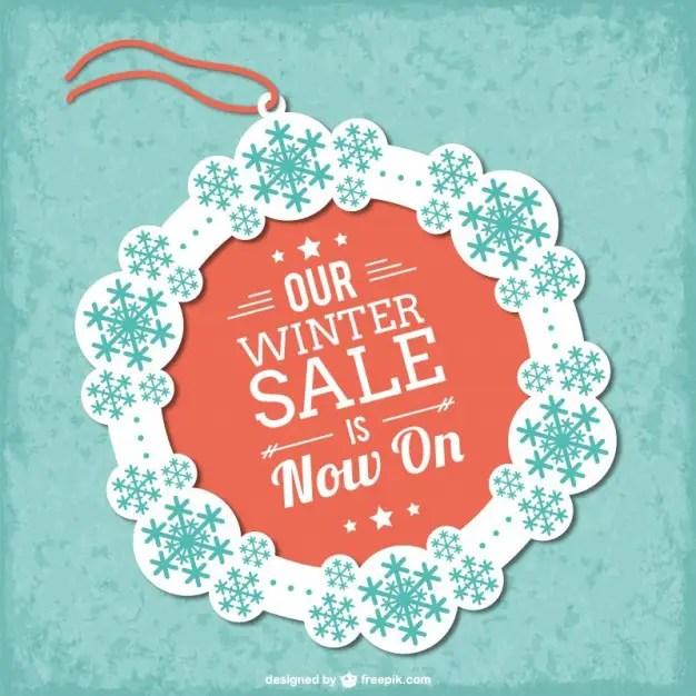 Winter Sale Tag Free Vector