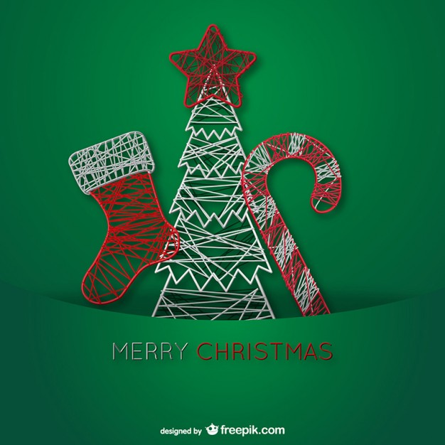 Wire Christmas Ornaments Free Vector