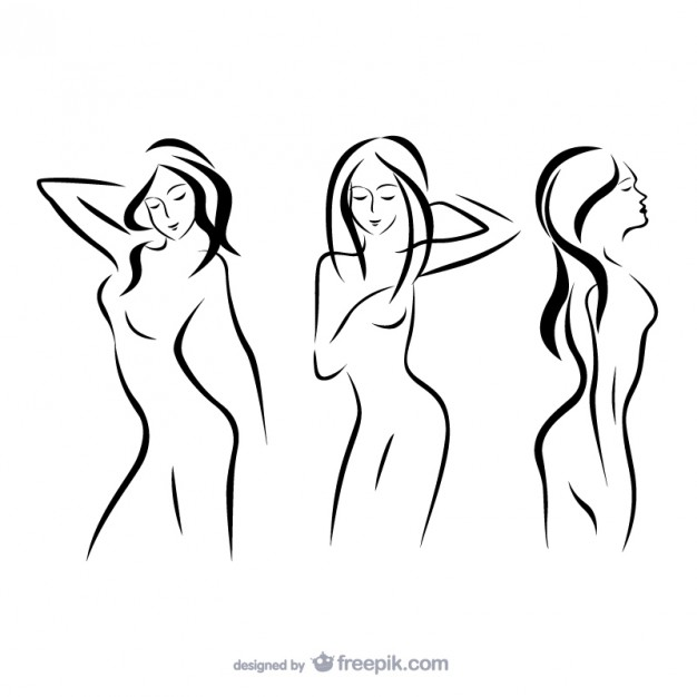 Woman Outlines Free Vector