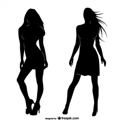 Women Silhouettes Free Vector