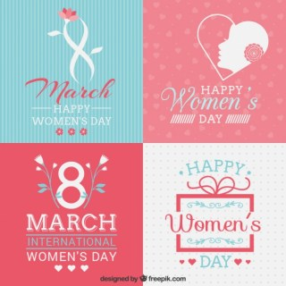 Womens Day Cards Collection Free Vector