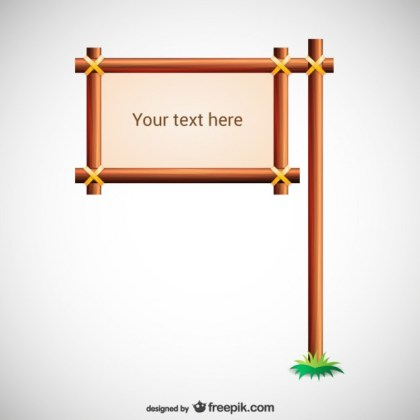 Wooden Sign Template Free Vector