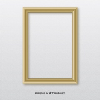 Wooden Wall Frame Free Vector