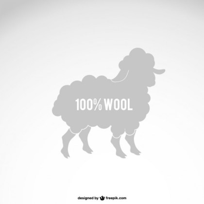 Wool Sheep Silhouette Free Vector
