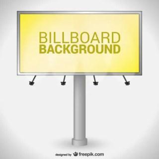 Yellow Billboard Free Vector