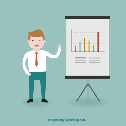 Young Businessman Character Free Vector