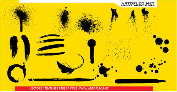 Spray Paint Splatter Free Vector