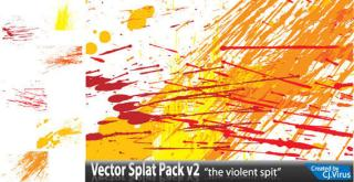 Color Splatter Free Vector