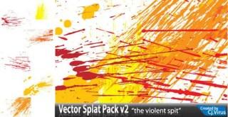 Color Splatter Free Vector
