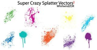Crazy Splatter Free Vector