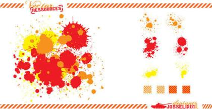 Paint Drops Splatter Vector