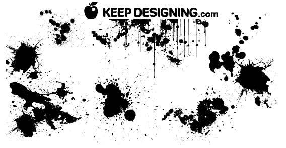 Paint Splatter Free Vector