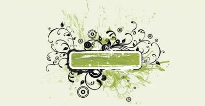 Floral Grunge Text Banner