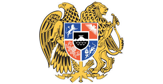 Eagle and Lion with Heraldic Shield