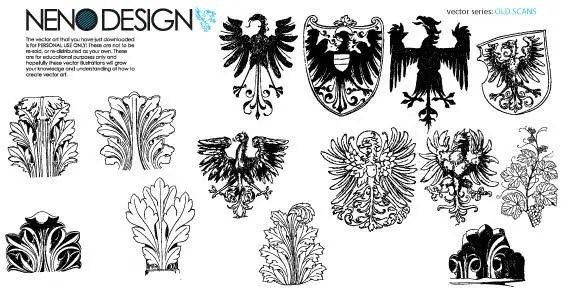 Vector Heraldic Elements