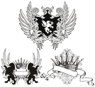 Heraldry Fashion Tshirt Designs