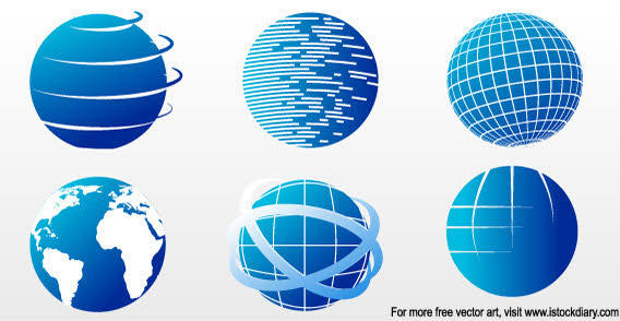 Globe Icons Vector Set
