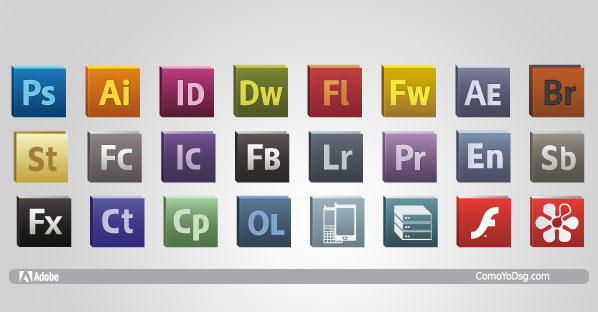 Adobe CS5 Logo Icons Vector