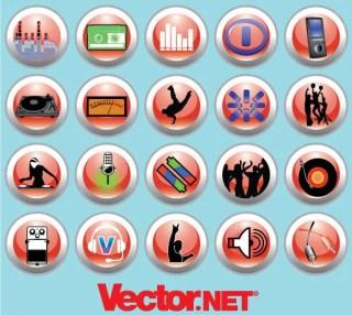 Free Vector Music & Nightlife Icon Set