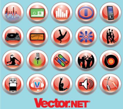 Free Vector Music & Nightlife Icon Set