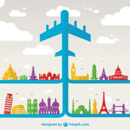 Air Travel Holiday Free Vector