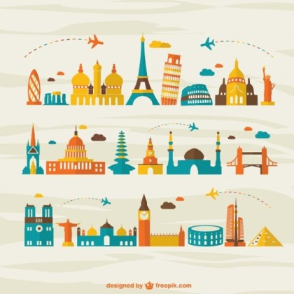 Air Travel Landmark Tourism Free Vector