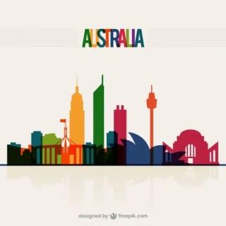 Australia Skyline Free Vector