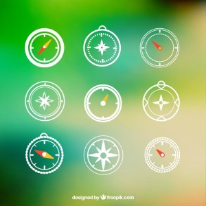 Compass Icons Free Vector