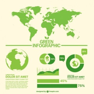 Green World Infographic Free Vector