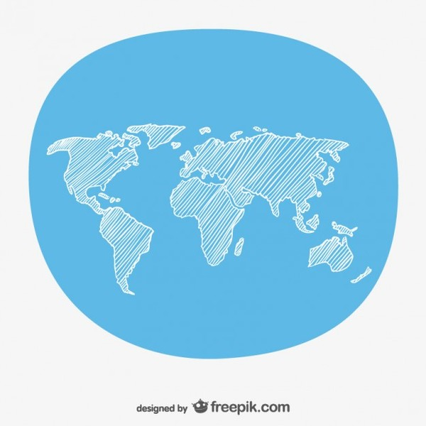 Hand sketch world map free vector 123freevectors hand sketch world map free vector gumiabroncs Image collections