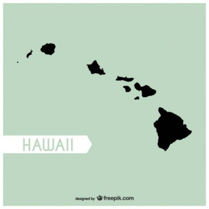 Hawaii Map Free Vector