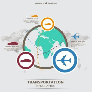Infographic Transportation Free Vector