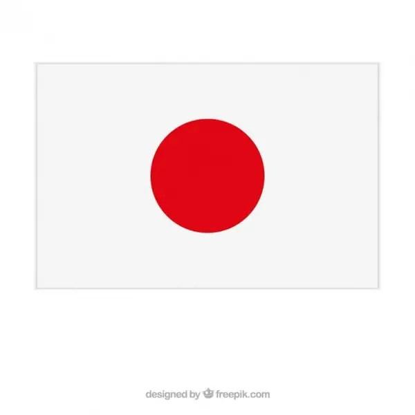 Japanese Flag Free Vector