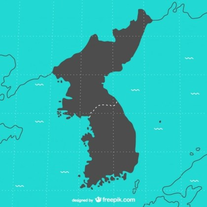 Korea Map Free Vector