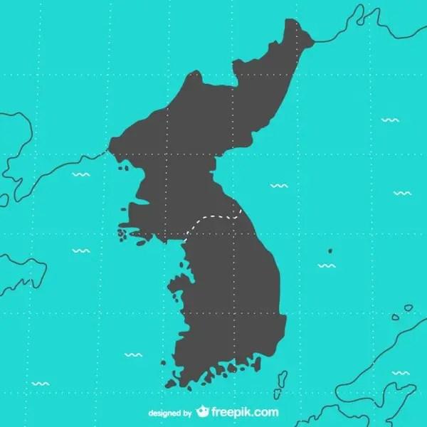Korea Map Free Vector