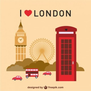 London Landmarks Collection Free Vector