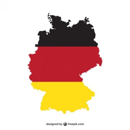 Map of Germany and National Colors Free Vector