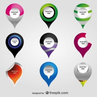 Navigation Map Pin Collection Free Vector
