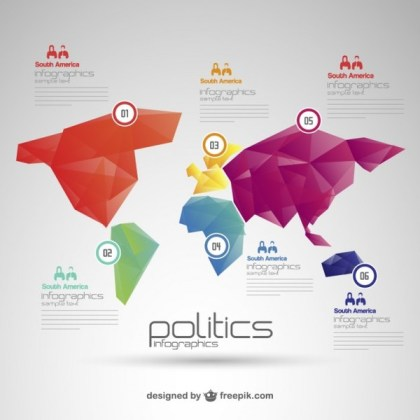 Politics World Map Infographic Free Vector