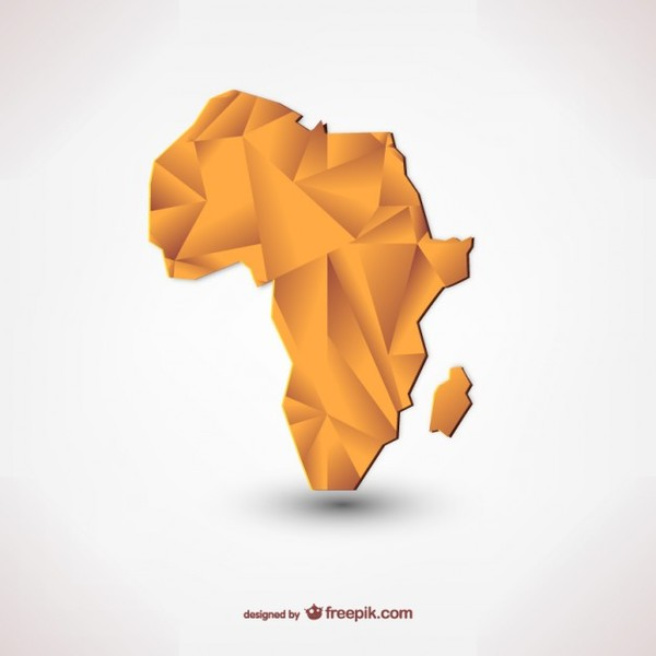 Polygonal Silhouette of Africa Free Vector