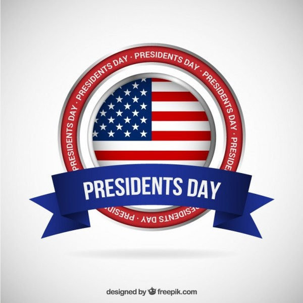 Presidents Day Banner Free Vector