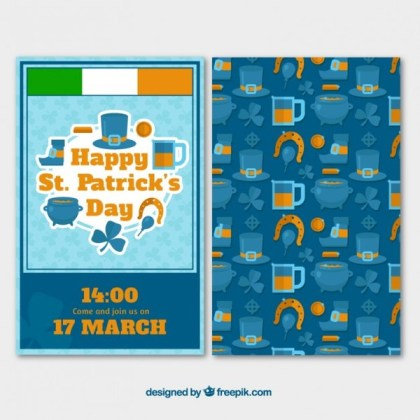 St Patricks Day Poster Free Vector