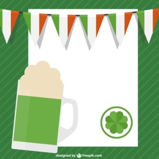 St Patricks Day Template Free Vector