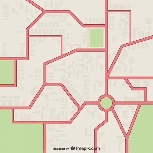 Street Map Free Vector
