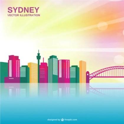 Sydney Cityscape Free Vector