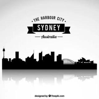 Sydney Skyline Free Vector