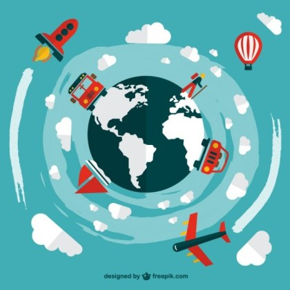 Travel Transportation Vehicles Free Vector