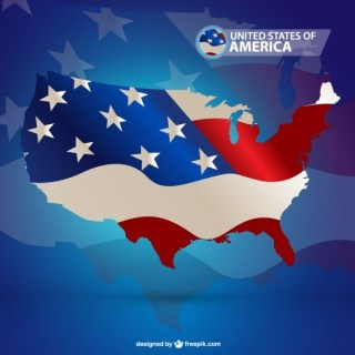 Usa Flag Graphics Free Vector