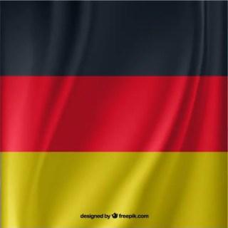Waving German Flag Free Vector