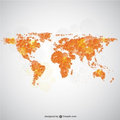 World Map Bubble Graphics Free Vector
